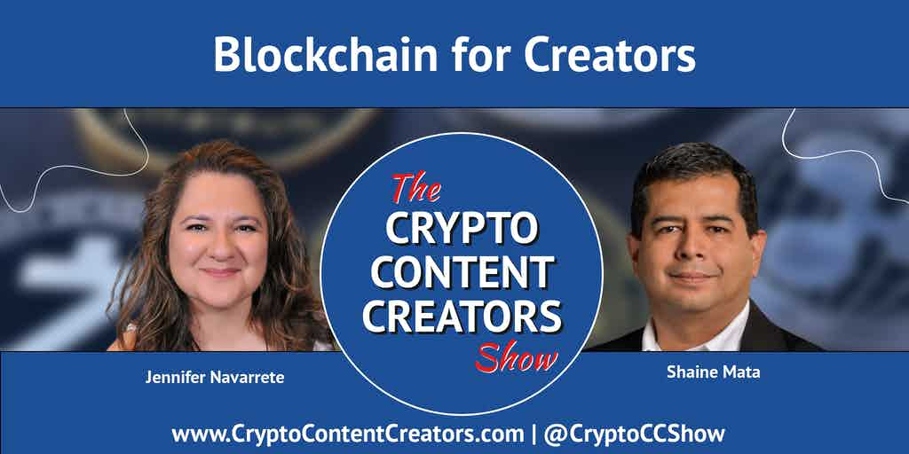 graphic promoting the Blockchain for Creators episode 2
